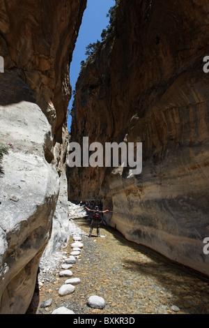 Iron Gate, Samaria Gorge, Chania Prefecture, Crete, Greece - Stock Photo