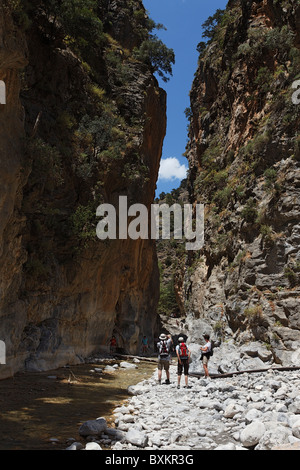 Iron Gate, Samaria Gorge, Chania Prefecture, Crete, Greece - Stock Photo