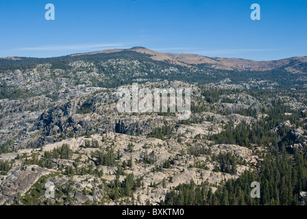 Scenic view of Carson Spur in Sierra Nevada Mountains, California - Stock Photo