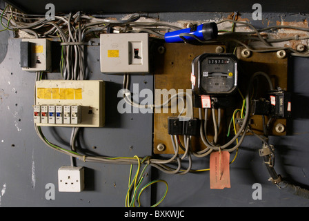 domestic home electrics main fuse box with on off switch. Black Bedroom Furniture Sets. Home Design Ideas
