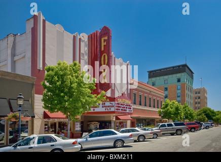 Fox Theatre on Main Street in Salinas, California, USA - Stock Photo
