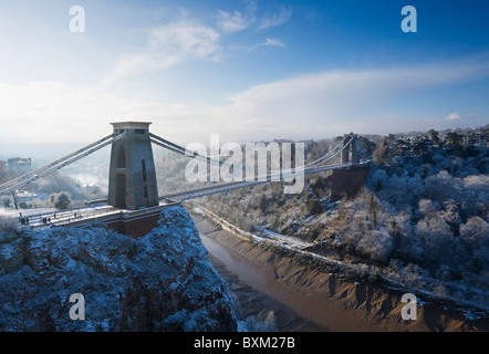 Clifton Suspension Bridge, Winter. Bristol. England. UK. - Stock Photo