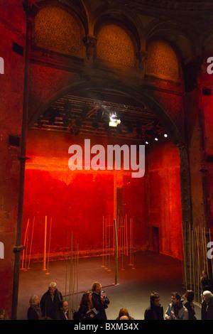 set for A Magic Flute by Peter Brook, Theatre des Bouffes du Nord Paris France - Stock Photo
