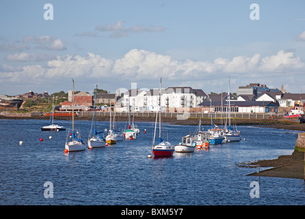 Irvine Harbour, North Ayrshire, Scotland, UK on a summer day - Stock Photo