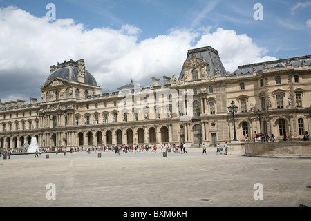Paris, View of Louvre Museum from inner Courtyard - Stock Photo