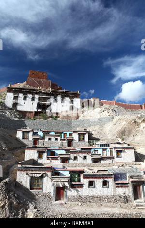 Part of the Shigatse Pelkhor Choede, Palcho Monastery in Gyantse, Tibet, China. - Stock Photo