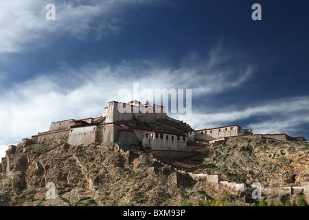 Gyantse Dzong or Gyantse Fortress in Gyantse or Gyangtse in Tibet, China. - Stock Photo