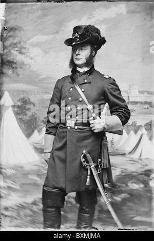 Lt. Col. J.H. Childs, 4th Pa. Cavalry union soldier officer - Stock Photo