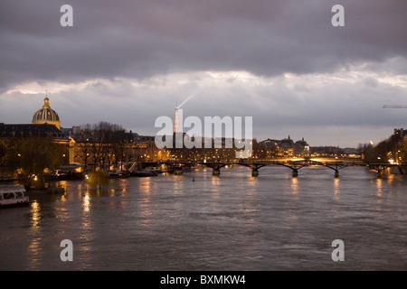 View of the Pont des Arts, Paris - Stock Photo