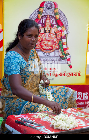 vendor in Pondicherry, Tamil Nadu, India - Stock Photo