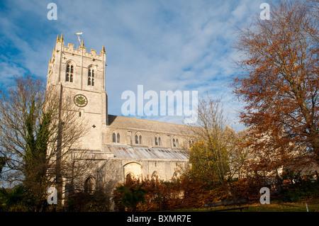 Christchurch Priory in Dorset, UK - Stock Photo