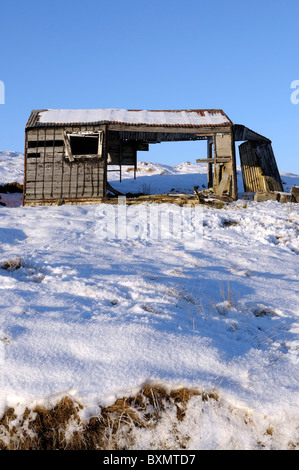 Old shieling at Achmore on the Isle of Lewis - Stock Photo