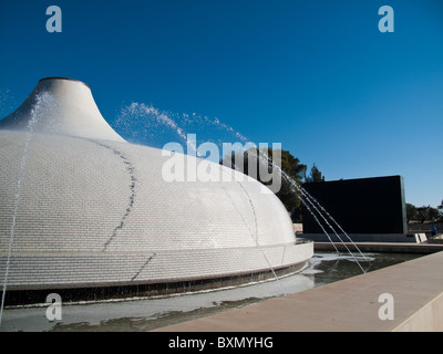 The Shrine of The Book home to the Dead Sea Scrolls in Israel Museum Jerusalem - Stock Photo