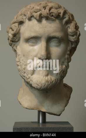Antoninus Pius (86-161). Roman Emperor (138-161). Marble bust. Antonine period. Metropolitan Museum of Art. New - Stock Photo