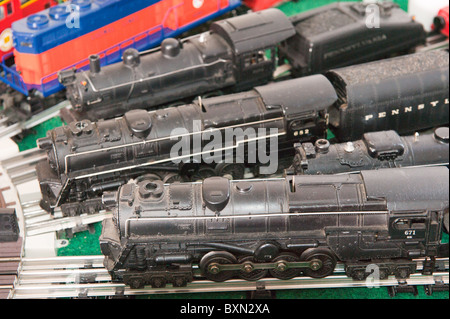 Toy electric trains - Stock Photo