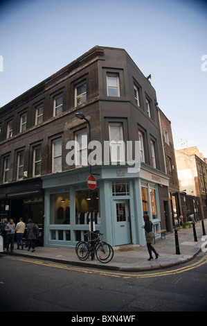 Redchurch Street Shoreditch East London - Stock Photo