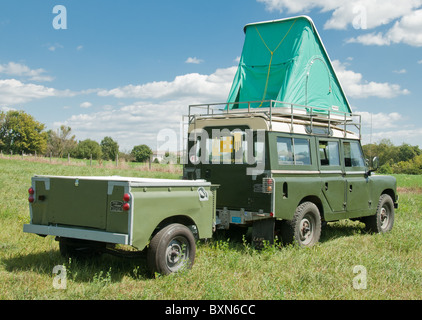 ... Land Rover Series 2a 109 with Autohome Columbia roof top tent and trailer - Stock Photo & Land Rover with roof top tent and trailer Stock Photo Royalty ... memphite.com