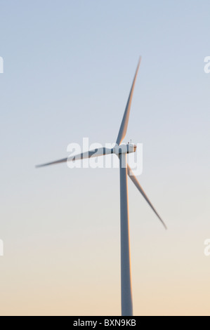 Wind turbine at dawn - Stock Photo