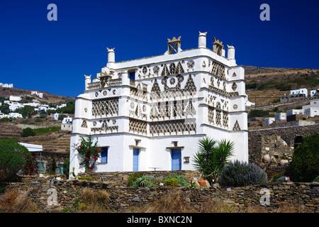 House near Triandaros, on the Greek Cyclade island of Tinos. - Stock Photo
