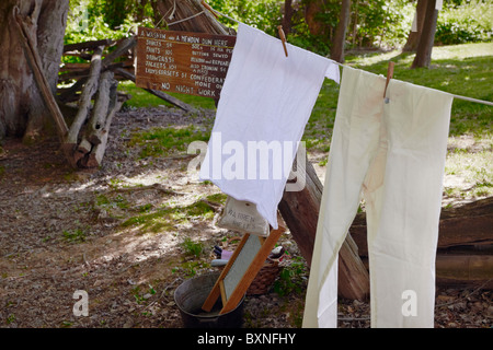 A reenactment of a Confederate camp at historic Blenheim, Fairfax, Virginia. - Stock Photo