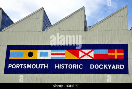Portsmouth Historic Dockyard, Portsmouth, Hampshire, Britain, UK - Stock Photo