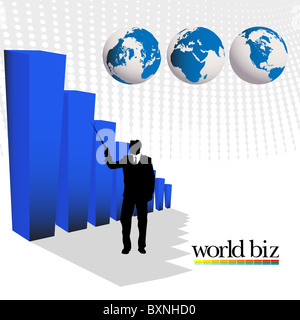 world biz - Stock Photo