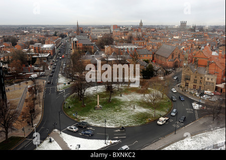 View from the Chester Wheel towards the city centre - Stock Photo