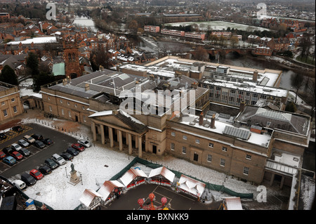 View from the Chester Wheel of Chester Court Offices - Stock Photo