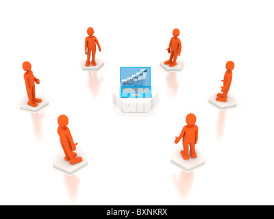 Communication concept. 3d rendered image - Stock Photo