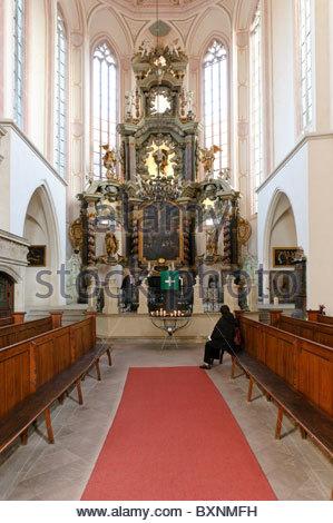 Altar in the town church of St Wenceslas, Wenceslas Church, Naumburg, Saxony-Anhalt, Germany, Europe - Stock Photo