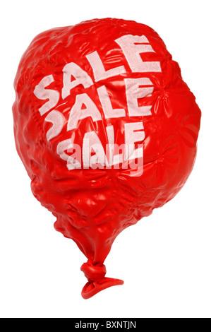 Deflated or burst Sale balloon