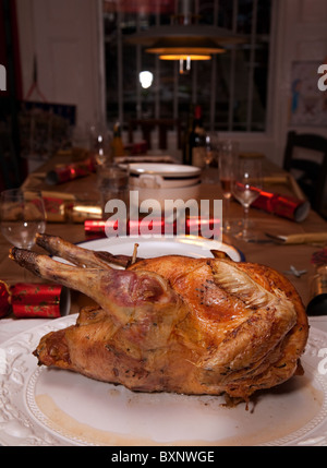 Table Set For Christmas Dinner christmas dinner lunch table set for meal decorated cracker turkey