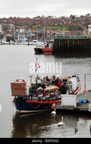 Whitby Harbour Old Life Boat - Stock Photo
