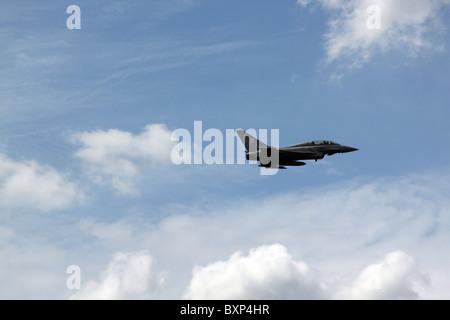 Eurofighter Typhoon jet fighter in flight - Stock Photo