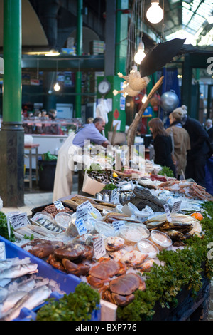 Fishmongers,Borough Market,London - Stock Photo