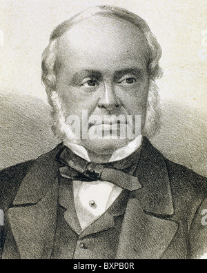 GLADSTONE, William Ewart (Liverpool Hawarden ,1809-1898). British statesman. - Stock Photo