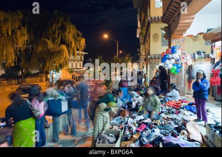 festival period street market, Thimphu (capital city), Bhutan, Asia - Stock Photo