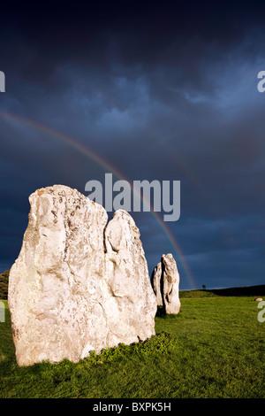 Avebury - Approaching storm - Stock Photo