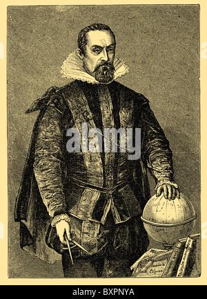 Johannes Kepler (1571 – 1630), German mathematician, astronomer and astrologer - Stock Photo