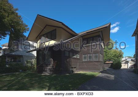E. Arthur Davenport house by Frank Lloyd Wright, River Forest, Chicago, Illinois, USA - Stock Photo
