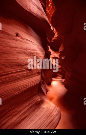 Upper Antelope Canyon slot canyon near Page Arizona - Stock Photo