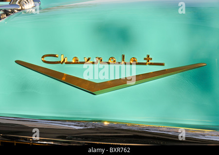 1957 Chevrolet Bel Air Logo on Trunk - Stock Photo