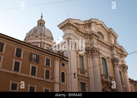 Basilica dei Santi Ambrogio e Carlo al Corso in Rome, Italy - Stock Photo