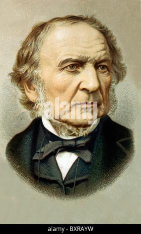 Portrait of William Gladstone (1809-1890) British Politician & Prime Minister - Stock Photo