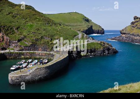 Boscastle Harbour, Cornwall, England - Stock Photo