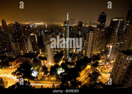 It Is A Shot Of Hong Kong Traffic Night Stock Photo Royalty Free Image 36296171 Alamy