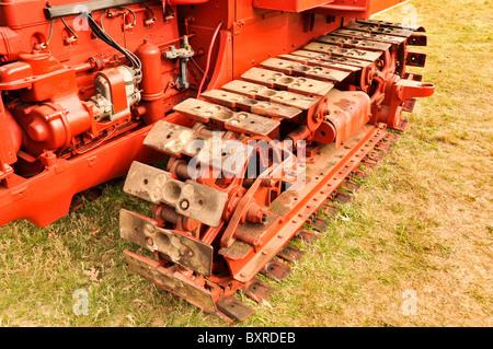 1934 McCormic-Deering Crawler TA-40 Bulldozer Track - Stock Photo
