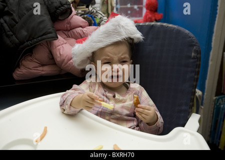 Nursery school and Pre-K program in the highly multicultural Kensington neighborhood in Brooklyn, New York. Baby - Stock Photo