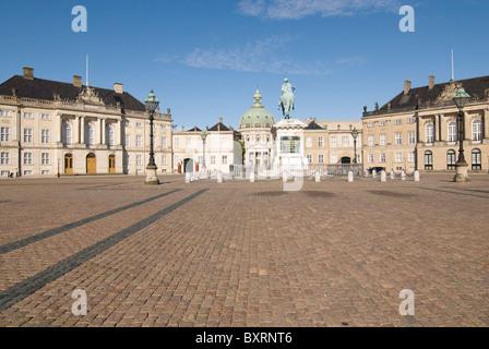 Royal palace Amalienborg in Copenhagen - Stock Photo