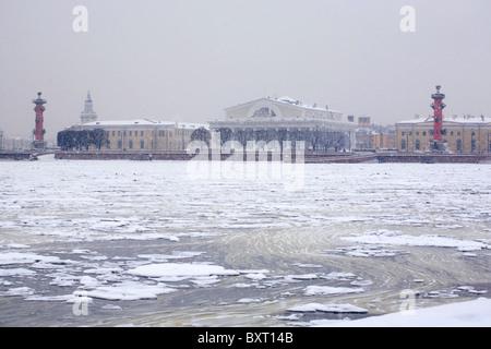 Kind on an The split of Vasilyevsky Island, Saint-Petersburg, Russia - Stock Photo